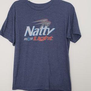 Natty Light Beer Graphic Tee Size M